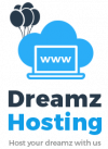 dreamz hosting logo hor black2